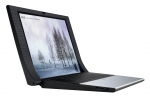 Laptopul ASUS NX90 (lateral stanga, capac deschis)