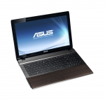 Laptop ASUS U53 Bamboo (capac deschis, vedere fata-stanga)