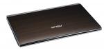 Laptop ASUS U53 Bamboo (capac inchis, vedere de sus)