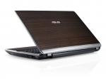 Laptop ASUS U53 Bamboo (capac deschis, vedere din spate)