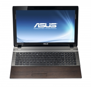 Laptop ASUS U53 Bamboo (capac deschis, vedere din fata)