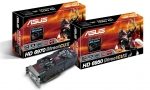 PR ASUS HD 6970 and HD 6950 DirectCU II graphics cards with boxes