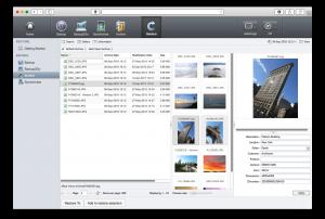 Captura din aplicatia Archiware P5 pt QNAP