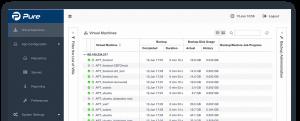 Captura din aplicatia Archiware Pure pt QNAP